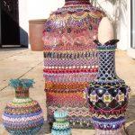 Embellished beaded bottles