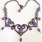 St Olave Necklace - Vitrail Light and Purple Iris