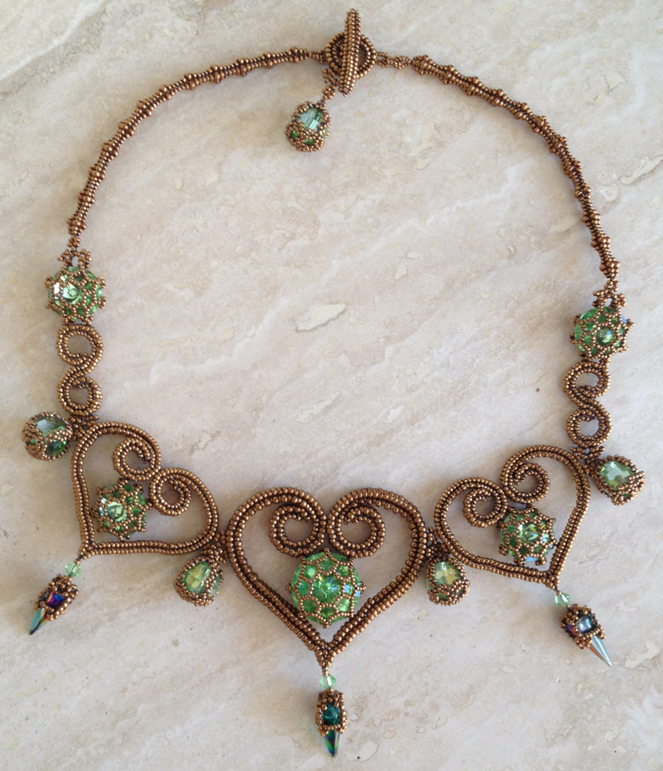 St Olave necklace in Bronze and Peridot