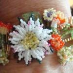 Wearing my Spring Floral Bracelet