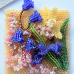 Spring beaded quilt