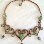 St Olave necklace - Peridot/Bronze