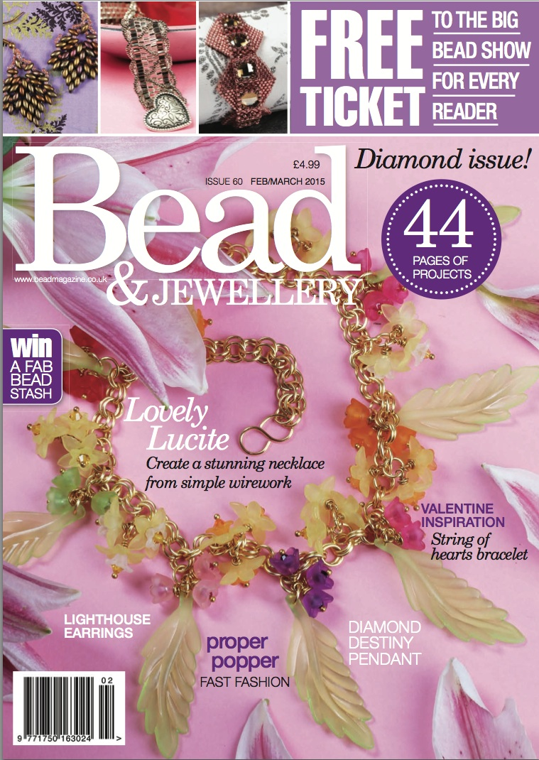 Cover of Bead Magazine Issue 60 - Feb/Mar 2015