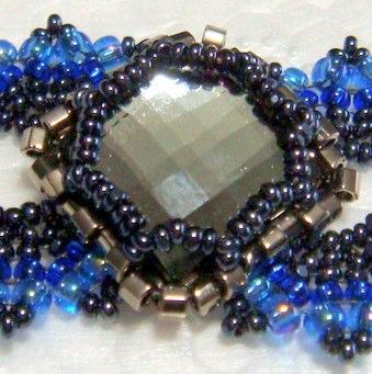 Lorenzo de Medici Bracelet - Black Diamond & Aqua